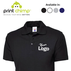 Embroidered-Personalised-Polo-Shirt-Printed-Logo-Custom-Workwear-Printing