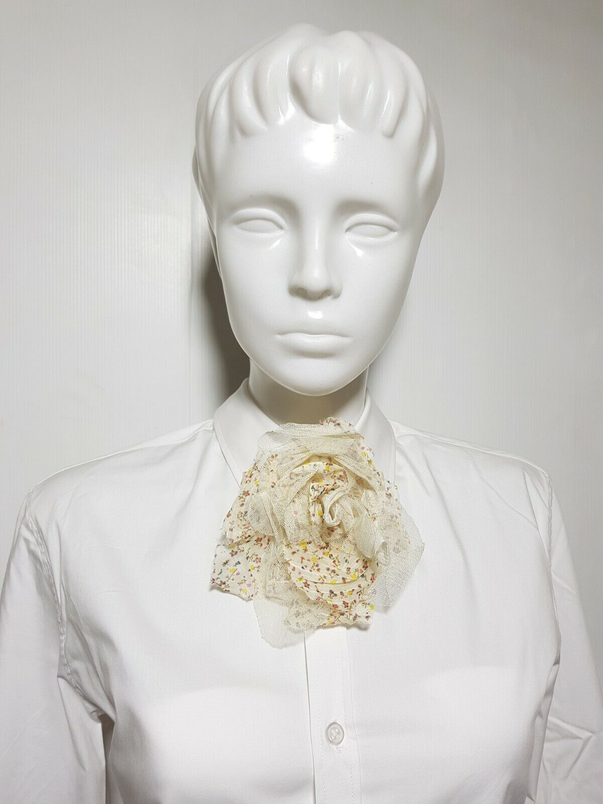 New Claire's Girl's Women's Bow Tie Beige Lace Flower Bowties Floral pattern