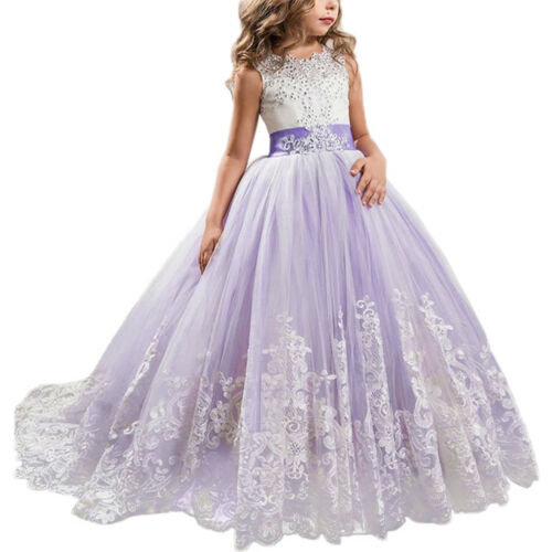 First Communion Flower Girl Dress for Kid Wedding Vintage Princess Photo Gown