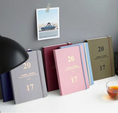 Journal <J> 2017 Diary Planner Scheduler Agenda Schedule Book Notebook/Korean