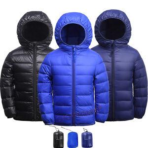 Boys-Girls-Ultralight-Puffer-90-White-Duck-Down-Hooded-Jacket-Winter-Down-Coat
