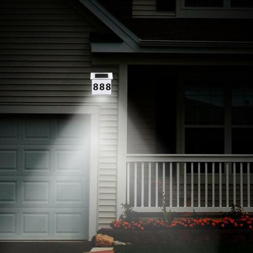 LED Waterproof Number Doorplate Solar Lamp Outdoor House Indicating Lights