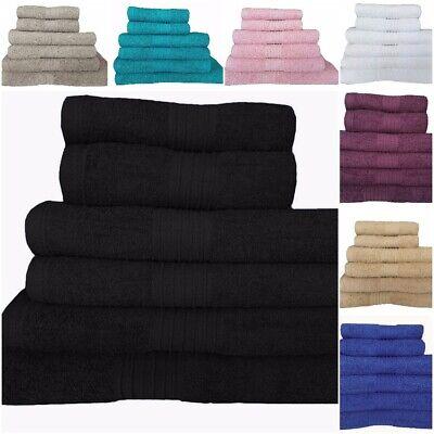 6 2 PIECE SET Zaras Towel Set 100/% Egyptian Cotton Royal Blue Colour Towel Bale 500 GSM For Bathroom 2 4 Piece Sets