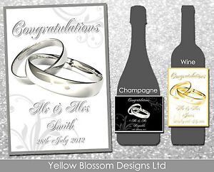 Personalised-Wine-Champagne-Bottle-Label-Wedding-Day-Anniversary-Hen-Night-Rings
