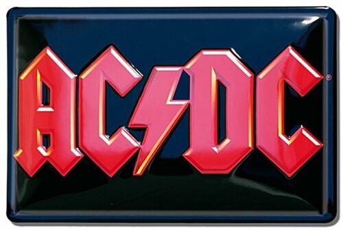 lsh AC//DC Logo embossed steel sign 300mm x 200mm