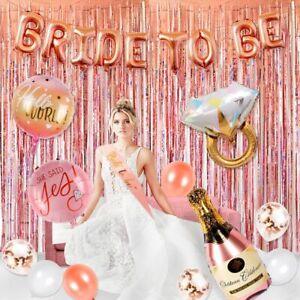 32pcs-Rose-Gold-Foil-Balloon-Bride-To-Be-Banner-Hen-Party-Wedding-Decor-Supplies