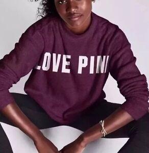Mock S Taglia Neck Victorias Maroon Pullover Love Pink Secret Stadium tqvwSnRz