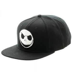 Nightmare-Before-Christmas-Jack-Black-Snapback-Cap-AU-STOCK