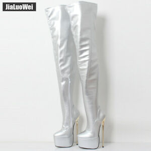 Pole Shoes Dance Knee Heel 22cm About Thigh Boots Over Platform High Cosplay Lady Details fyvbImYg67