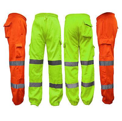 Kenntnisreich Hi Vis High Viz Visibility Safety Fleece Joggers Work Trousers Jogging Pants QualitäT Und QuantitäT Gesichert