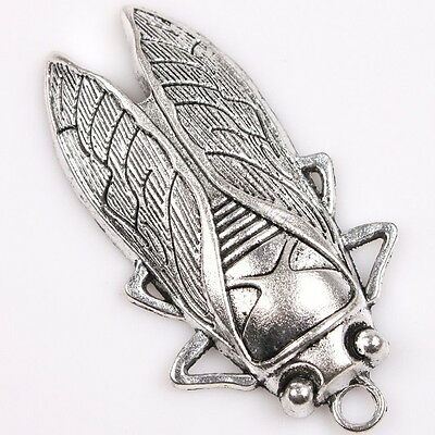 4x 145999 Hotsale Charms Cicada Vintage Silver Tone Alloy Pendants Findings DIY