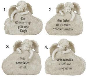 Details Zu Engel Am Stein Mit Spruch Grabstein Trauerstein Für Das Grab