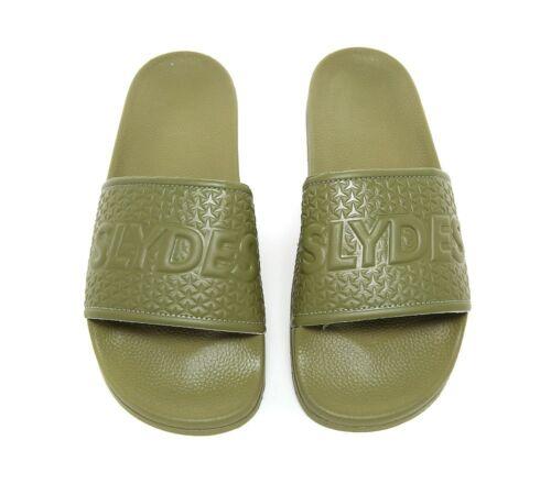 Mens Slydes Cali Basic Logo Khaki Slides RRP £19.99