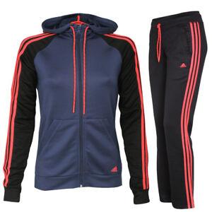 Details zu adidas Damen Trainingsanzug mit Kapuze New Young Knit Hoody  Jogginganzug