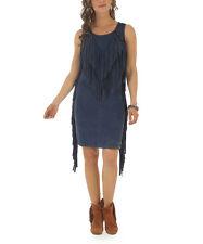 NEW FOR SPRING! Wrangler WOMENS BLUE Western Tie Dye DRESS Fringes XL