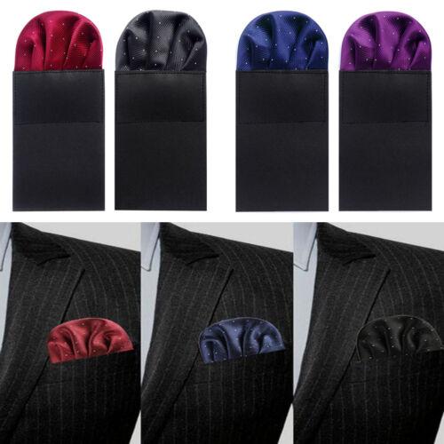 Men Handkerchief Pre-folded Pocket Square Hanky Formal Wedding Party Accessories