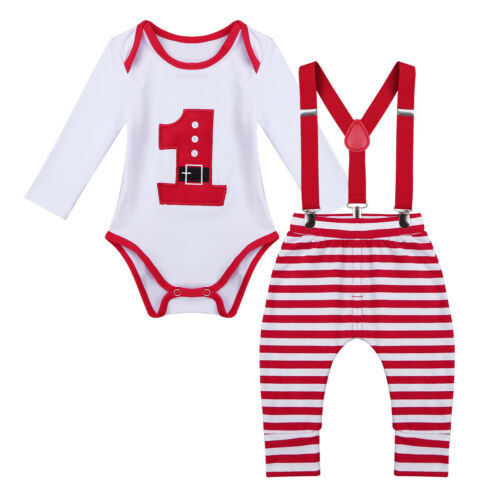 Newborn Baby Boys Outfits Clothes Romper Gentleman Long Sleeves Tops Pants Set