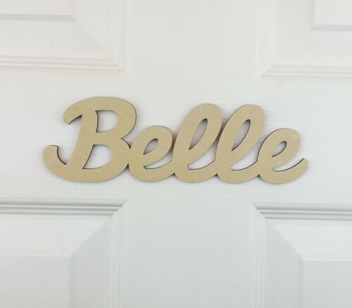 Personalised Wooden Name Plaque for bedroom doors or Toy Boxes #03