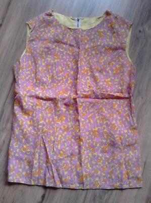 100% Wahr Flower Power Hippie Vintage 70er Jahre Bluse Hängerchen Tunika Gr 46