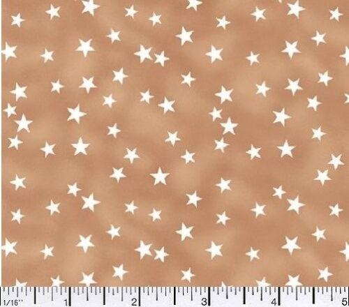1 yard Lucky Stars Tan  Fabric
