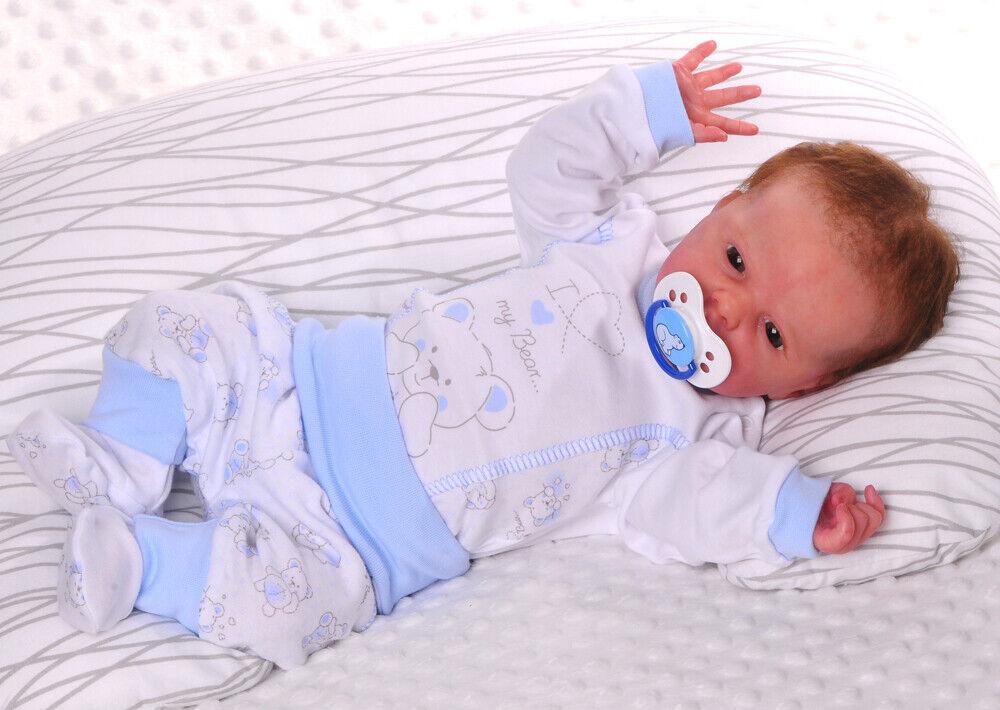 Body Hose mit Fuß SET Langarmbody 56 62 68 74 NEU Baby Body Rosa Maus Kombi