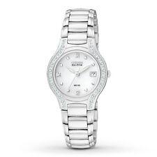 Citizen Eco-Drive Women's EW0970-51B Silhouette Diamond Accent Silver Tone Watch