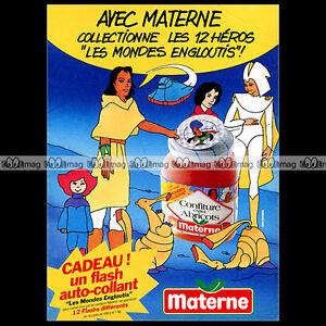 CONFITURE-MATERNE-amp-LES-MONDES-ENGLOUTIS-Recre-A2-1986-Pub-Publicite-Ad-A77