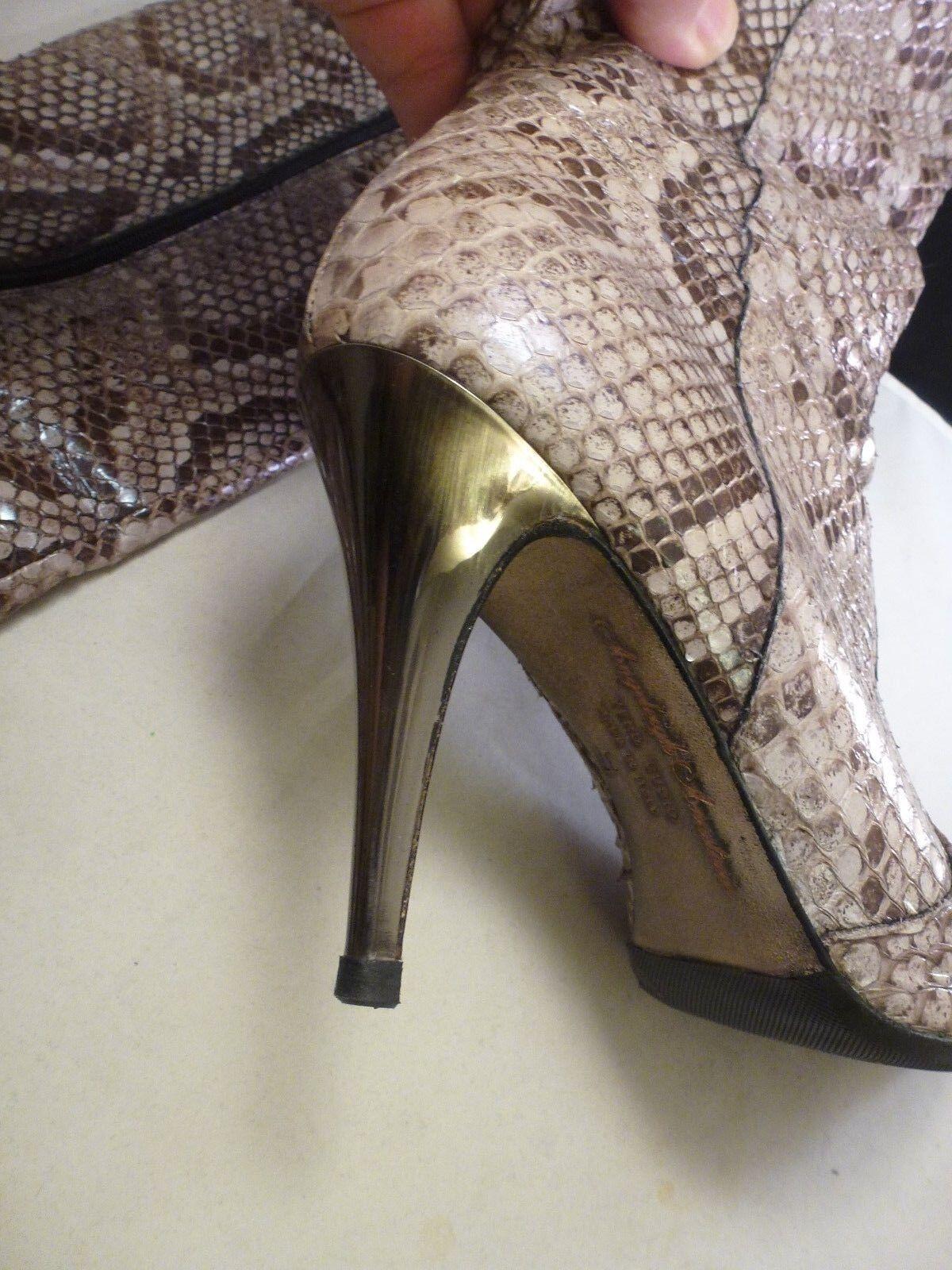 Angeleigh Anastasio imitación piel de serpiente serpiente de botas e1cd9e