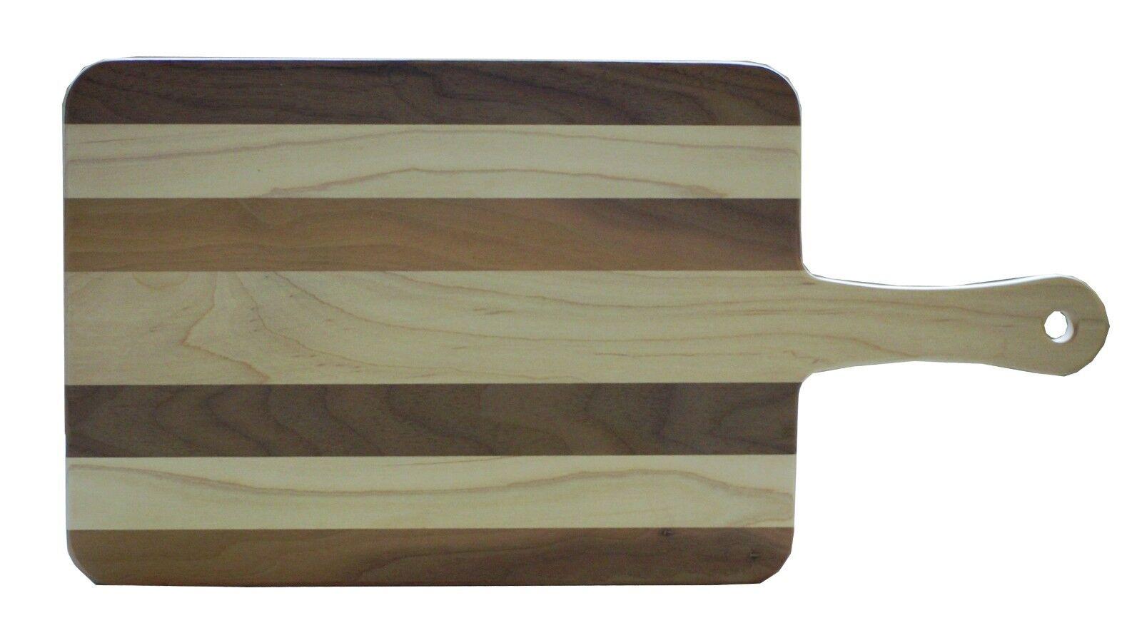 Walnut and Maple Wood Paddle Cutting Board - 2 Sizes - Kitchen - Amish Made USA