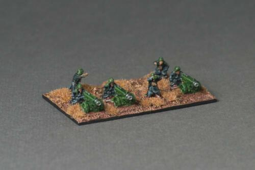 HWT Krieg 3x Heavy Bolter weapon team Trench Coat Infantry Epic 6mm scale