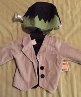 Lil Frankenstein Top/head Hat 12-24 Months