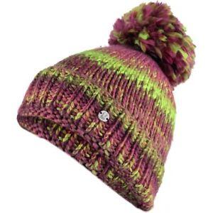 8367d3184 Details about SPYDER Girls TWISTY Chunky KNIT +Fleece WINTER Ski SNOW BOARD  Pom BEANIE HAT Cap
