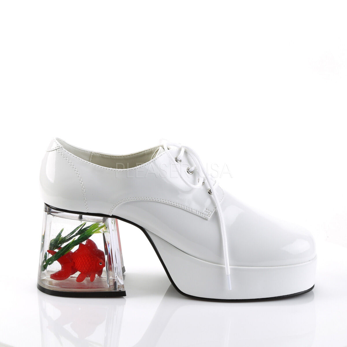 Funtasma 3.5  Fishtank White Platform Funky Retro Disco shoes Glam Mens 8-14