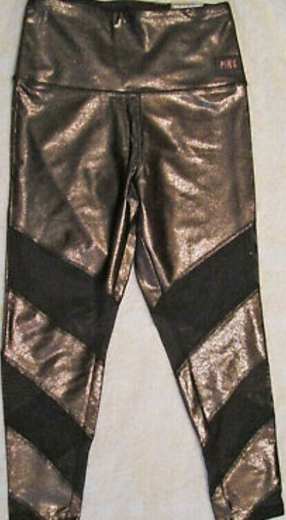 Victorias secret pink ultimate high waist gold leggings size small new with tag