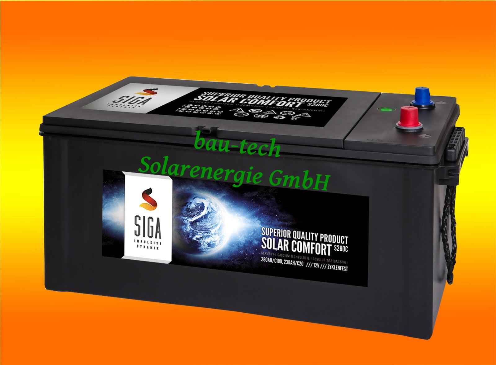 280Ah 12Volt Calcium Solar Batterie Akku Wohnmobil Stiefel Versorgungsbatterie