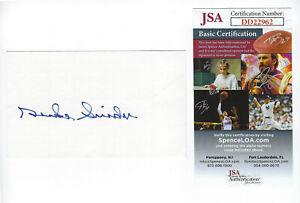 DODGERS-Duke-Snider-signed-3x5-index-card-JSA-COA-AUTO-Autographed-Brooklyn