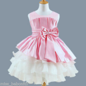 FREE Headband Isabella Flower Girl Dress Formal Bridesmaid Birthday Party Gown