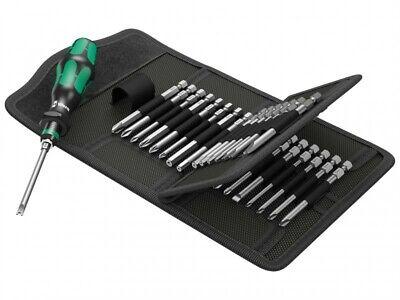 Wera Kraftform Kompakt 62 Bitholding Screwdriver and Pouch Set 33-Pieces