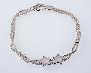 Vintage-Tiffany-amp-Co-Sterling-Silver-Double-Star-Twisted-Rope-Bracelet-7-034