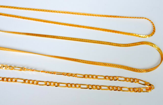 Gold Plated Indian/Curb Link Chain Necklace ladies/gents u91