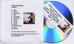 TODD-RUNDGREN-Arena-2008-UK-13-track-promo-test-CD
