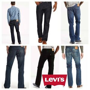 Levis-527-New-Mens-Slim-Fit-Boot-Cut-Levi-039-s-Bootcut-Jeans