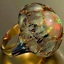 Fashion Vintage Creative Opal Female Ring Exaggerated Leaf Ring Party Jewelry