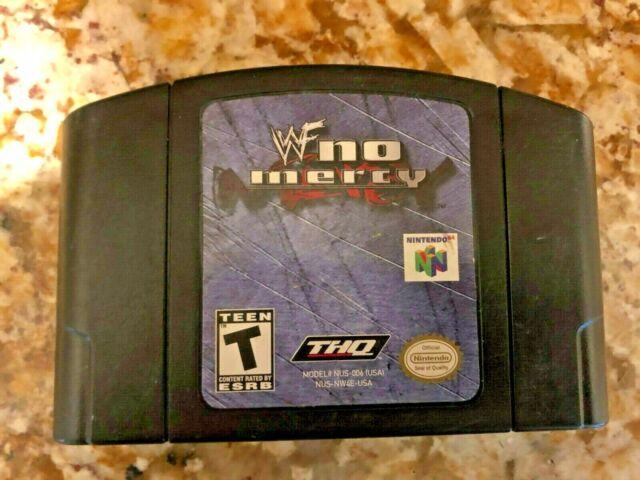 WWF No Mercy (Nintendo 64 2000) Cartucho de juego solamente en gran condición N64