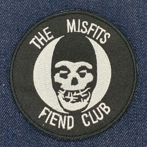 THE MISFITS FIEND CLUB PUNK ROCK BAND MUSIC IRON ON EMBROIDERED PATCH