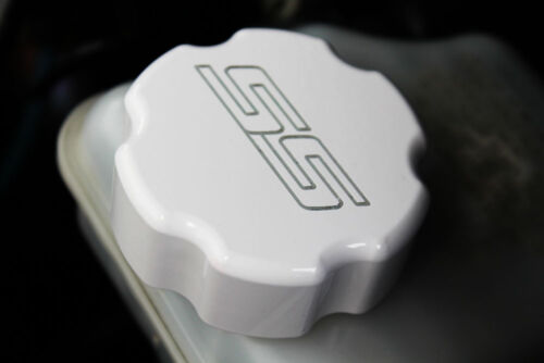 2010-2014 Chevrolet Camaro Master Cylinder Cap Cover SS Logo White