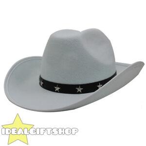WHITE STAR STUDDED COWBOY HAT WILD WEST FANCY DRESS WHOLESALE PACK ... 2378d85943eb