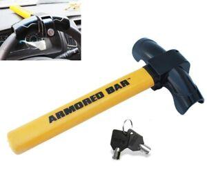Universal Heavy Duty Steering Wheel Lock Anti Theft Rotary Security Safe Car US