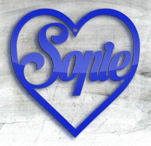 Coeur valentine/'s day birthday gift tag disney police arbre de noël babiole bleu