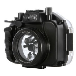 40m 130ft underwater waterproof housing case for canon eos m5 camera